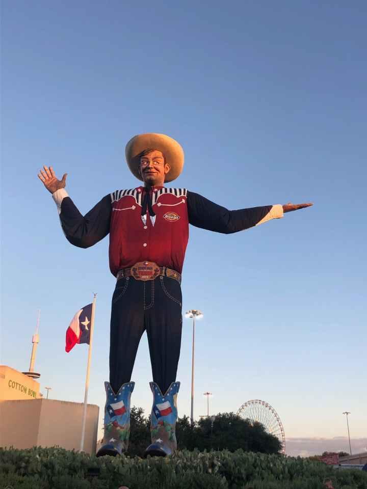 statue of a cowboy